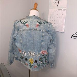 Floral Print Denim jacket 🌷